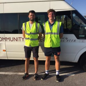 The A Team from Kingsbridge Community College Mini Bus Training Tom and Tom