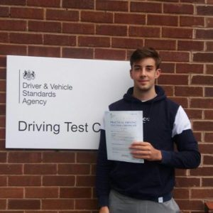 Cameron passed his test first time with three minors! Fantastic effort!
