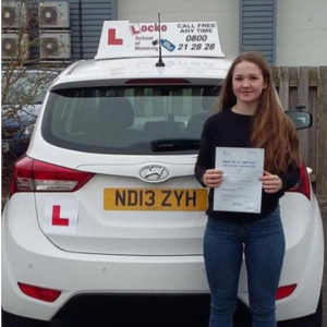 Congratulations to Cerys Jones of Thoreveton on Passing her Driving Test 1st time at Exeter