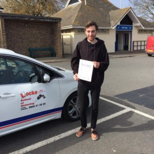Congratulation to George Stone on passing his driving test today, 13th April at Newton Abbot, first time