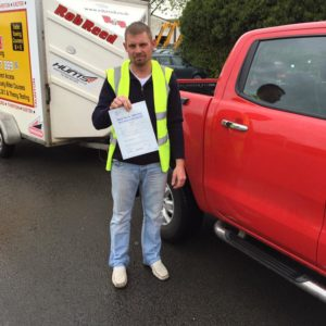 Congratulations to Mike Tibbs on passing his B+E test